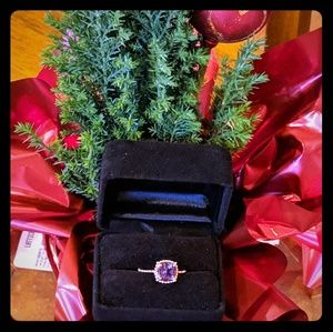 10k rose gold with amethyst